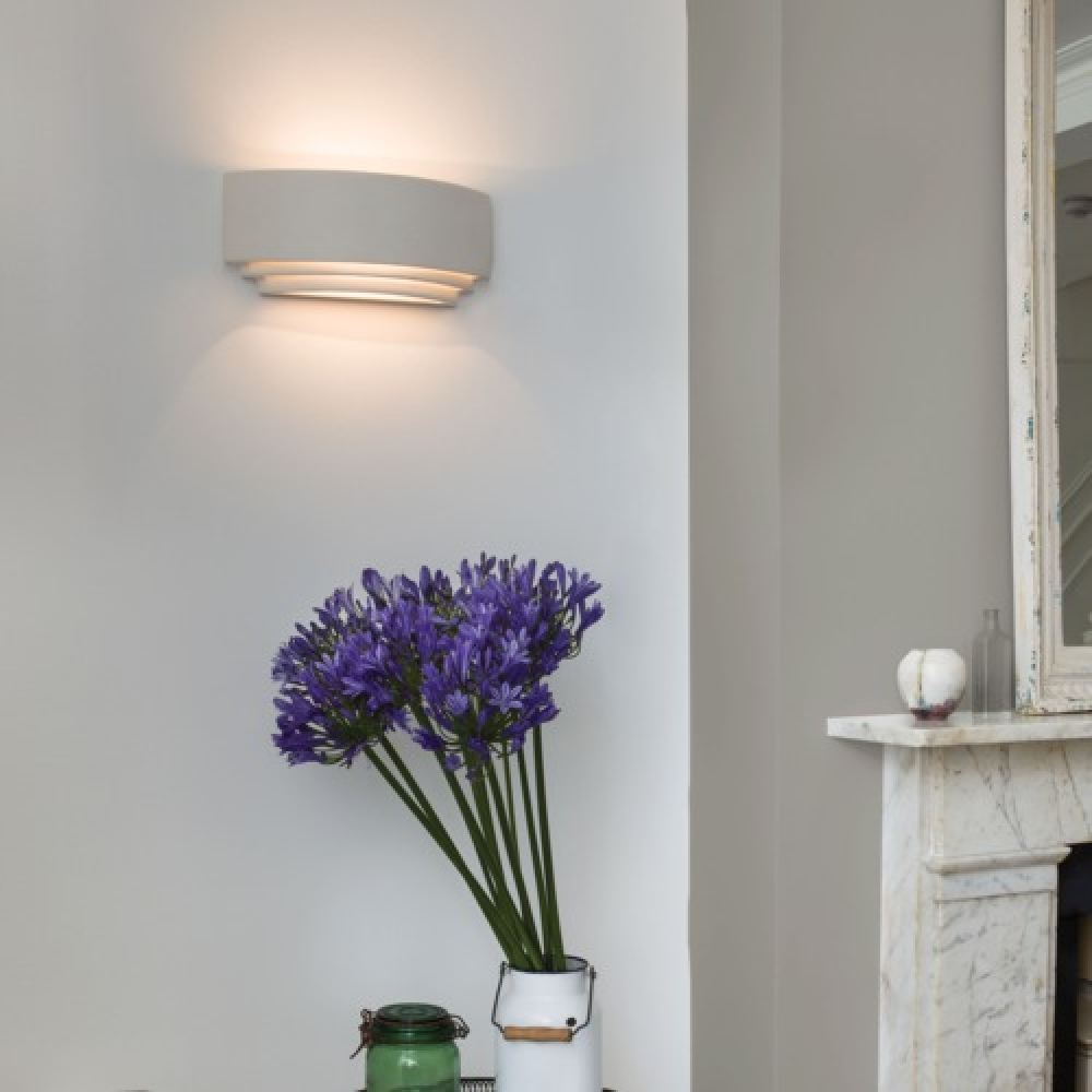 Wall Uplighter Lamps : Plaster Tiered Uplighter Wall Light Grande - Imperial Lighting