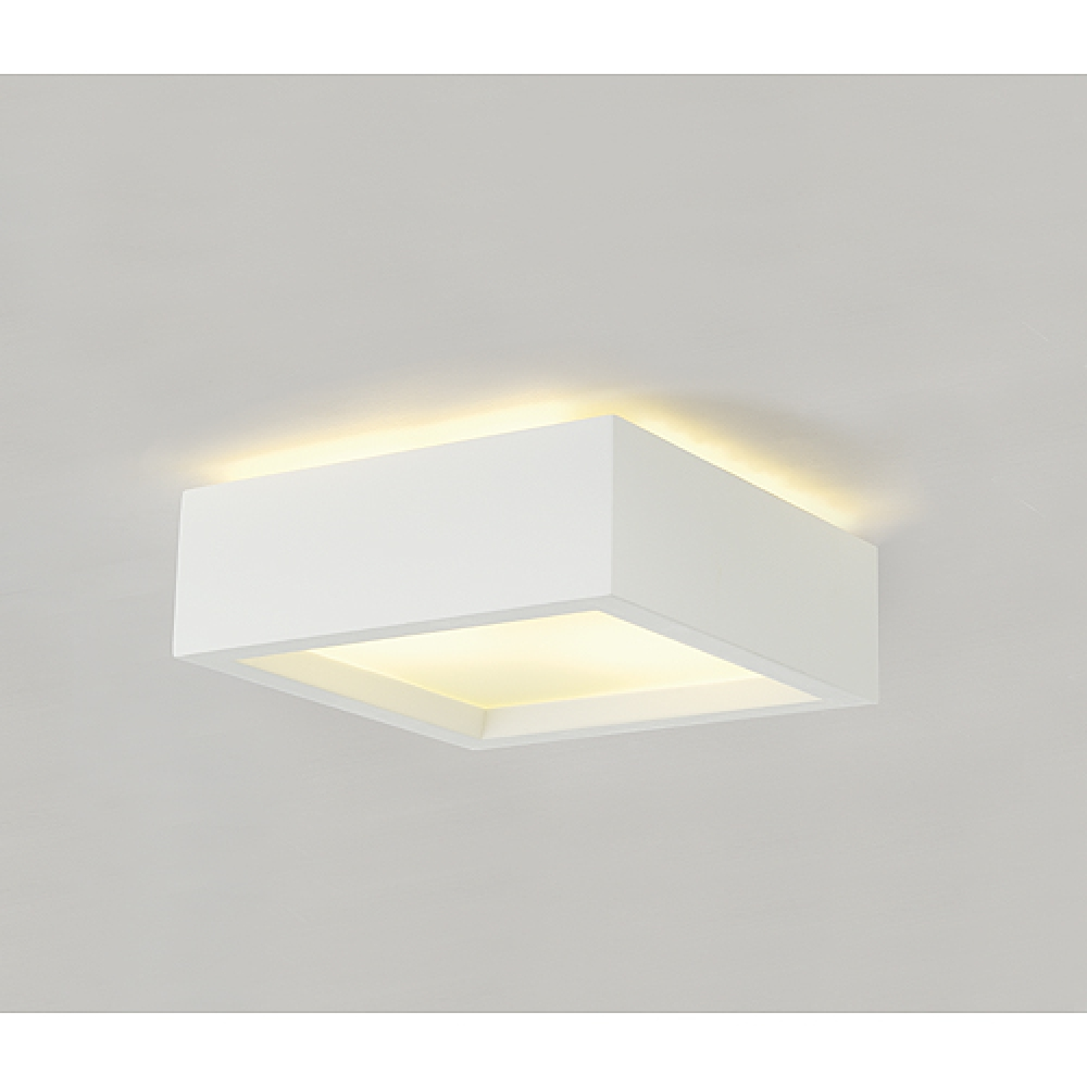 Plaster Square Ceiling Light