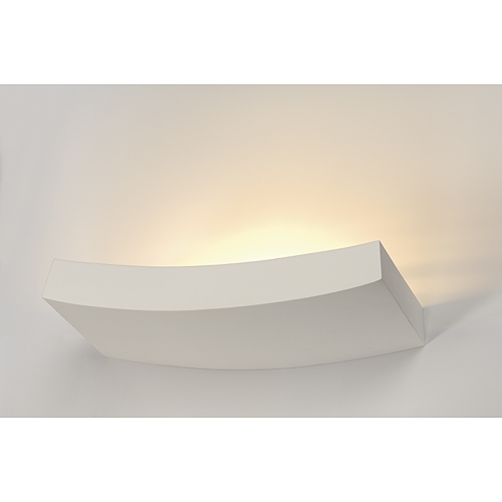 Curved Plaster Wall Lights : Plaster Curved Shelf Wall Light - Imperial Lighting