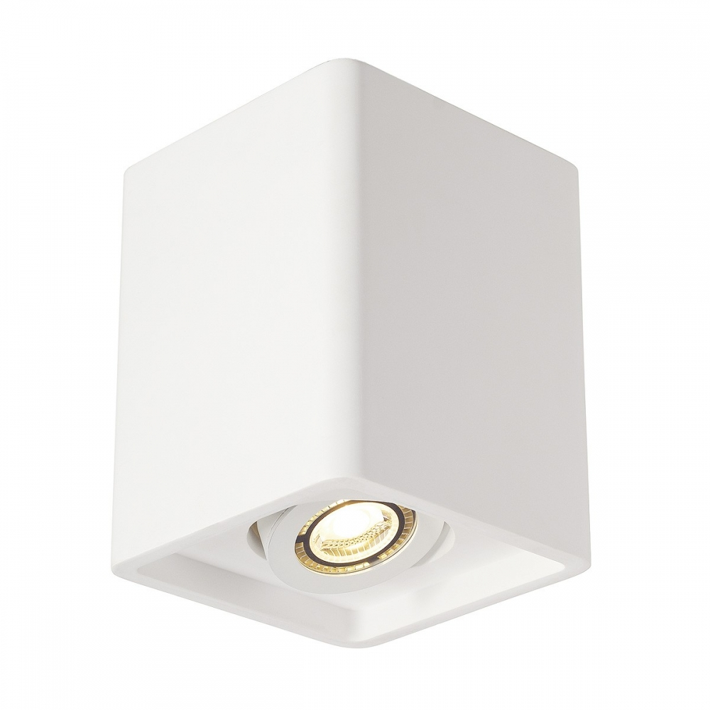 Plaster Single Cube Ceiling Light