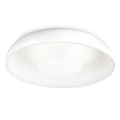Tandem White Flush Ceiling Light