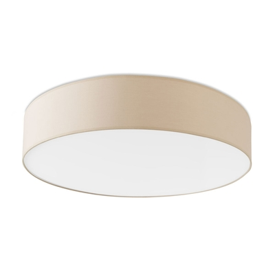 Bol Beige Cotton LED Flush Ceiling Light (Large)