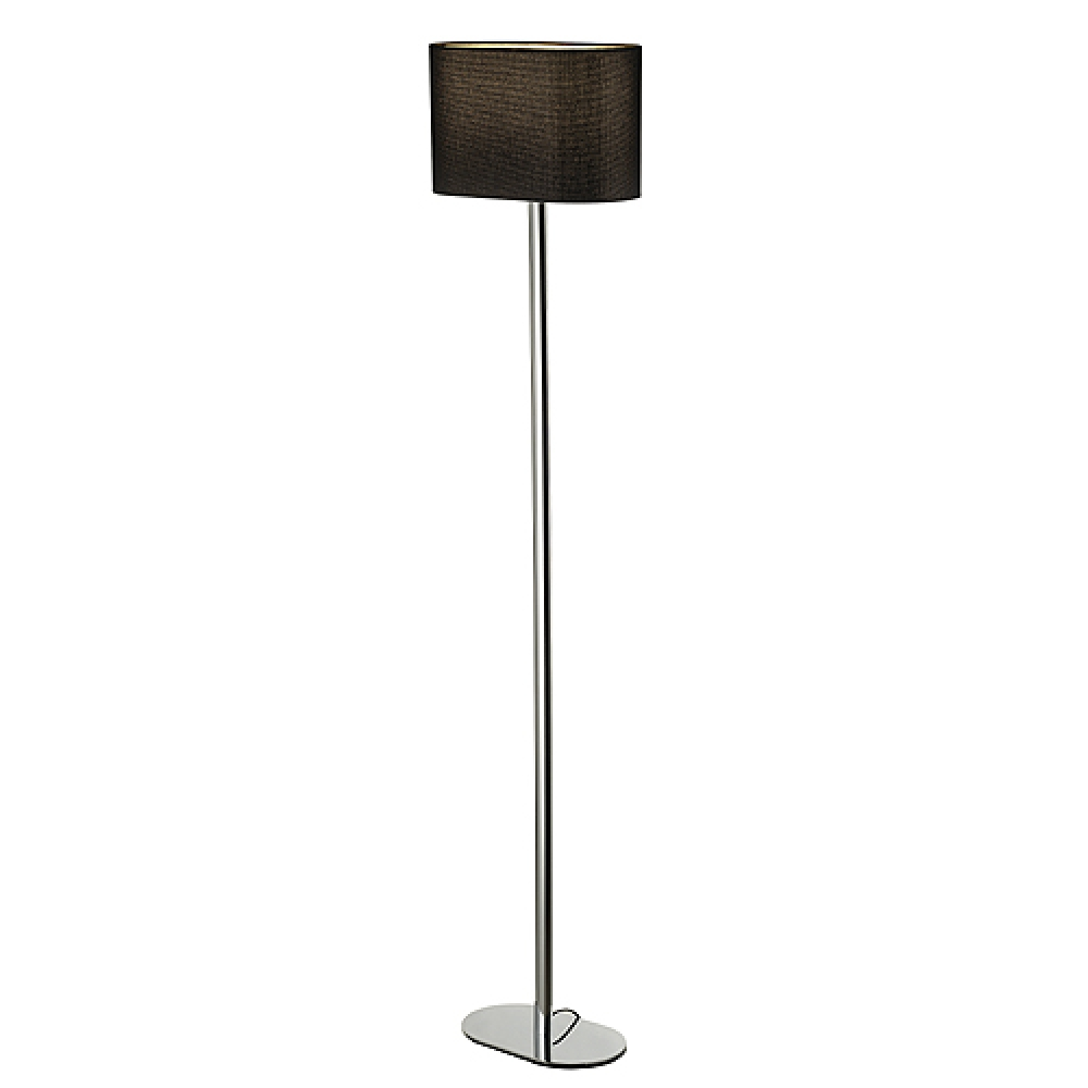 Oval Floor Lamp With Black Shade Imperial Lighting