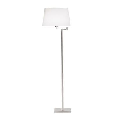 Twist Satin Nickel Floor Lamp