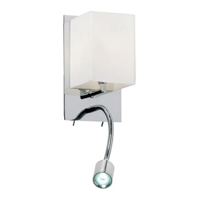 Opal Glass Wall Light with LED Arm