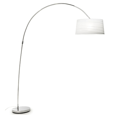 Skyward White and Chrome Floor Lamp