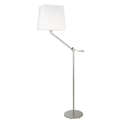 Satin Nickel Elbow Floor Lamp