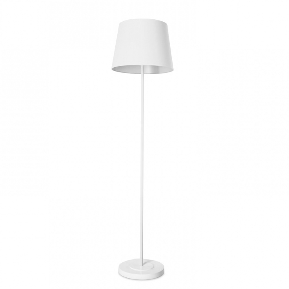 Michigan White Steel Floor Lamp
