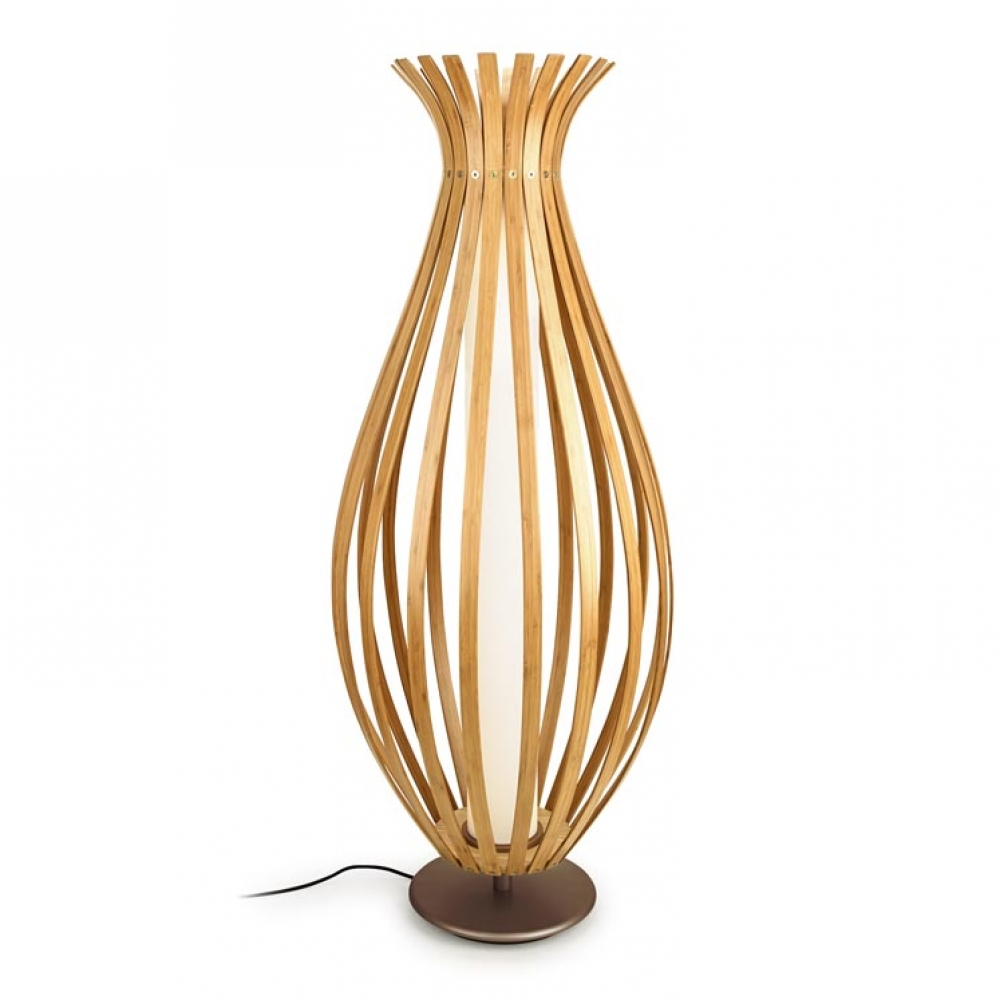 Bamboo LED Floor Lamp