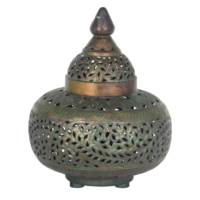 Moroccan Antique Brass Table Lamp