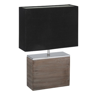 large wooden table lamp with black shade imperial lighting. Black Bedroom Furniture Sets. Home Design Ideas