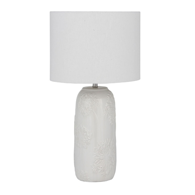 White textured ceramic table lamp with cylinder shade for White cylinder floor lamp