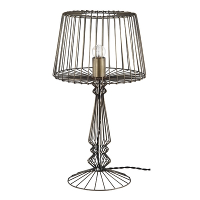 Indi Antique Brass Table Lamp