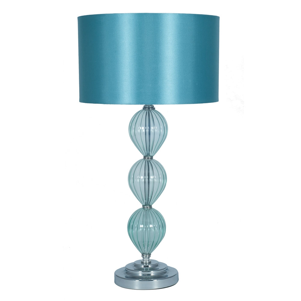 glass table lamp aqua imperial lighting. Black Bedroom Furniture Sets. Home Design Ideas