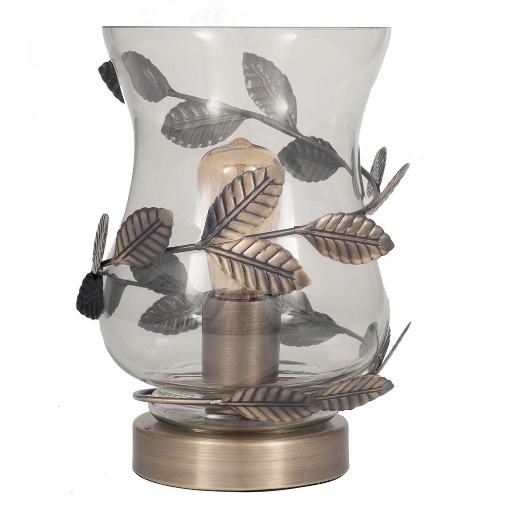 Antique Brass Hurricane Table Lamp Imperial Lighting