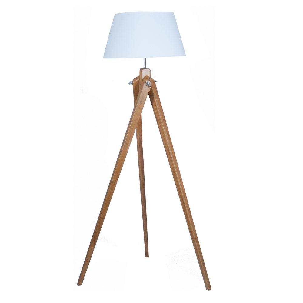 Tripod Natural Bamboo Floor Lamp Imperial Lighting