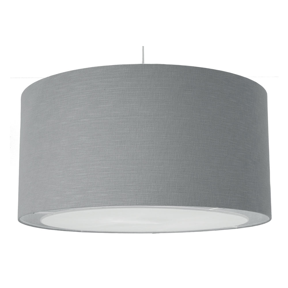 Lino Drum Ceiling Shade Grey