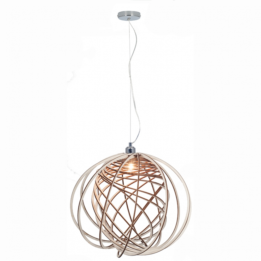 Electrified Slat Pendant Natural Wood Imperial Lighting