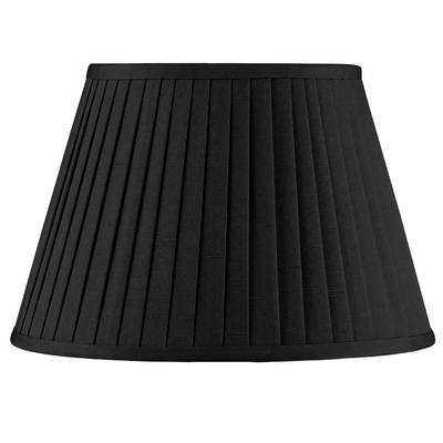 Knife Pleat Lampshade Black