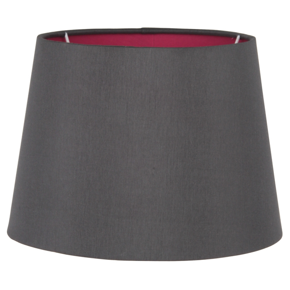 Pink Lined Grey Empire Lampshade Imperial Lighting
