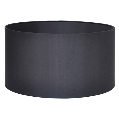 Silk Drum lampshade Black