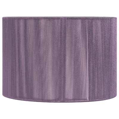 String Drum Lampshade Aubergine