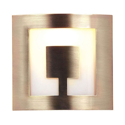 Square Wall Lamp Shades : Aztec Square Antique Brass Wall Light - Imperial Lighting