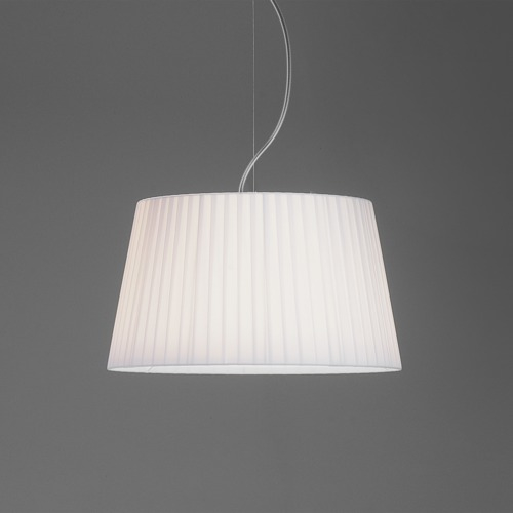 Tag Pleated Pendant White