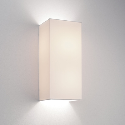Floating White Fabric Wall Light
