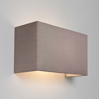 Floating Oyster Rectangle Fabric Wall Light