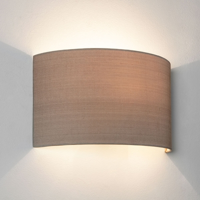 Floating Oyster Semicircle Fabric Wall Light