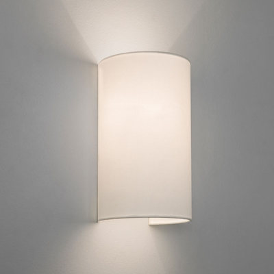 Floating White Tube Fabric Wall Light