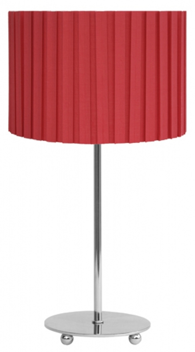 chrome table lamp set red pleated shade imperial lighting. Black Bedroom Furniture Sets. Home Design Ideas