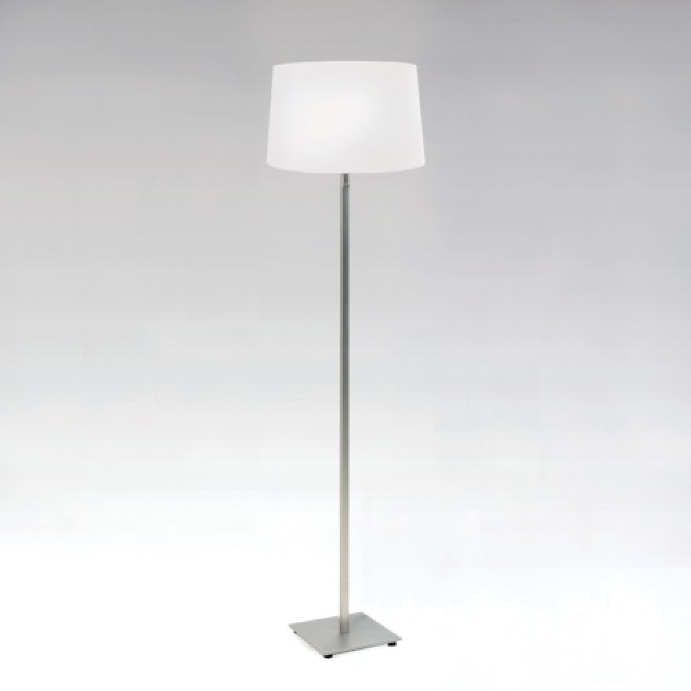 Azumi Nickel Floor Lamp and Shade