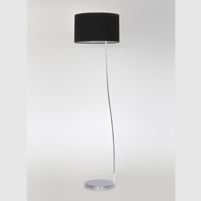 Leaning Polished Chrome Floor Lamp
