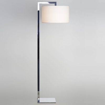 Ravello Chrome Floor Lamp and Shade