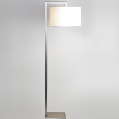 Ravello Nickel Floor Lamp and Shade