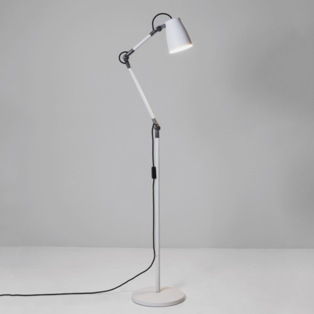 Luxo Spotlight Floor Lamp in White