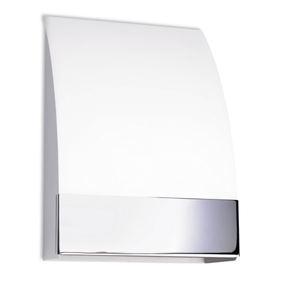 Chrome and Glass Tilted Wall Light