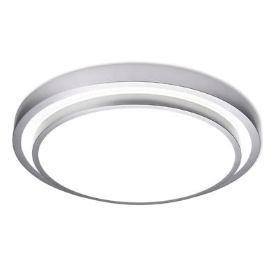 Round Metallic Flush Ceiling Light