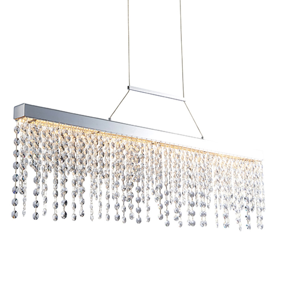 Crystal droplet Bar Pendant