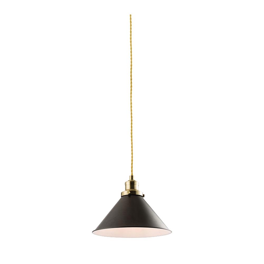 Cone hanging pendant black