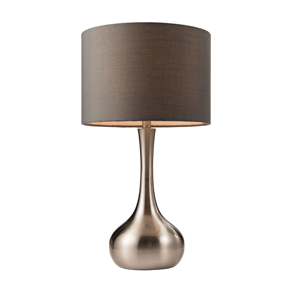 Touch table lamp satin nickel