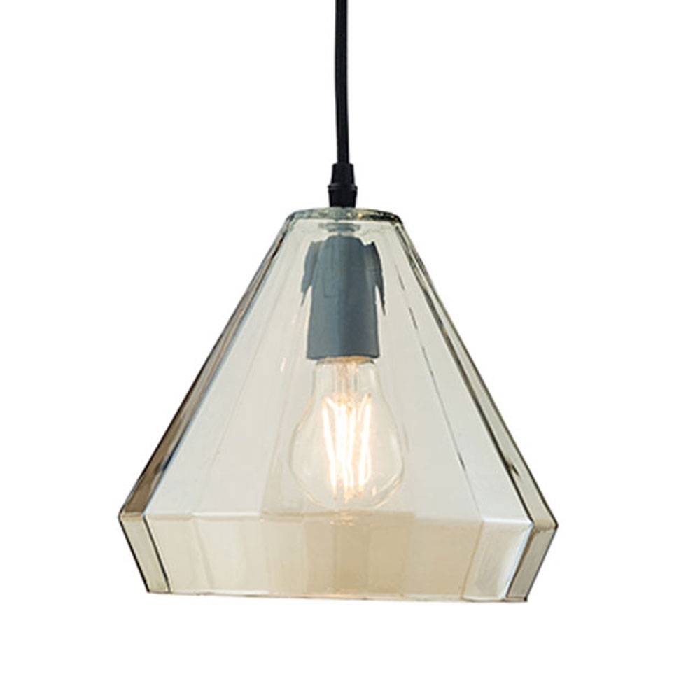 Cognac glass lantern pendant