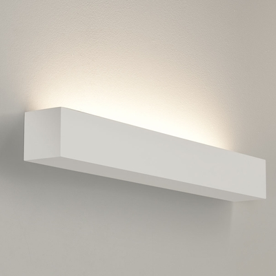 Rectangle horizontal white plaster wall light large imperial lighting product description a sleek and stylish wall light aloadofball Image collections