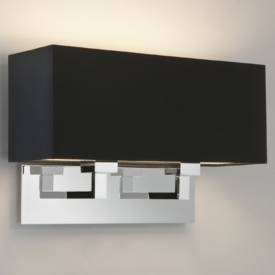 Rectangle Twin Polished Chrome Wall Light
