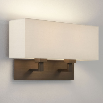 Rectangle Twin Bronze Wall Light