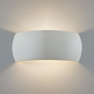 Band White Plaster Wall Light