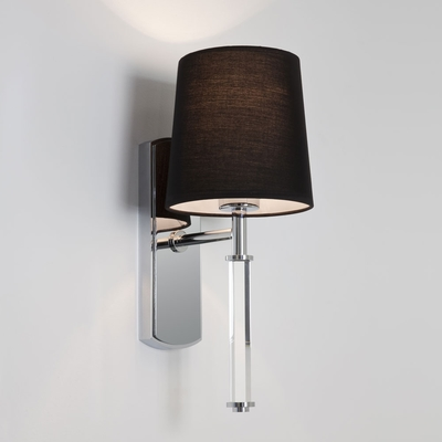 Glass Stem Single Wall Light