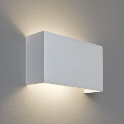 Horizontal Rectangle White Plaster Wall Light Imperial